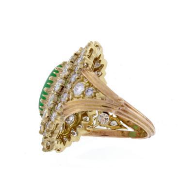 Buccellati Diamond and Jade Ring