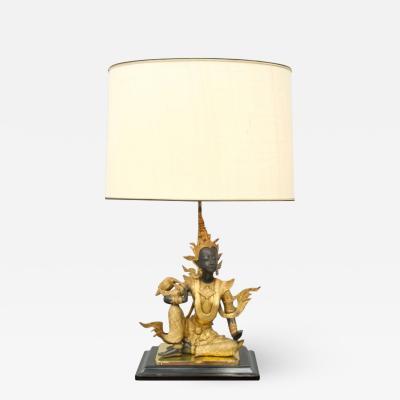 Buddha Brass Tabe Lamp