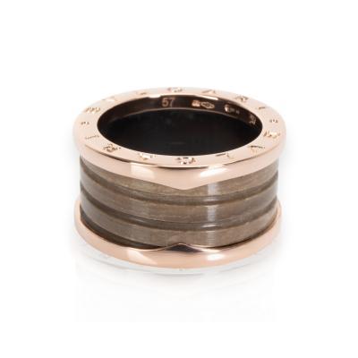 Bulgari B Zero 1 Brown Marble Ring in 18K Rose Gold