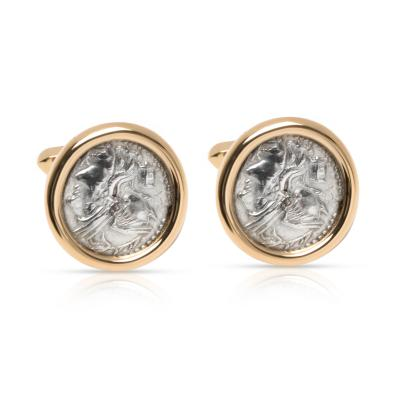 Bulgari Roman Coin Men s Cufflinks in 18K Yellow Gold