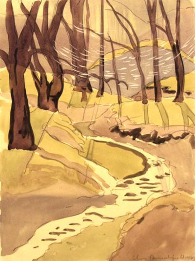 Charles E Burchfield The Brook 1916