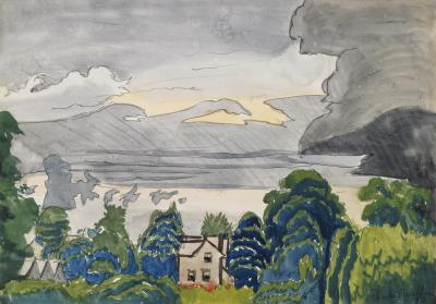 Charles E Burchfield Lull in Summer Rain 1916
