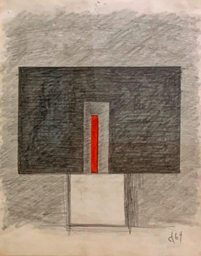 Burgoyne A Diller Untitled Study for Wood Sculpture