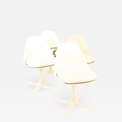 Burke Inc Mid Century Tulip Base Lounge Chairs Set of 4