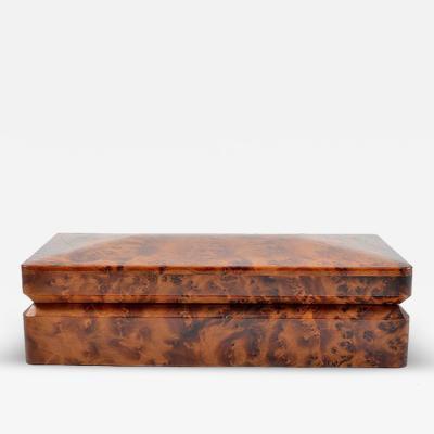 Burl Walnut Dresser or Cigar Box