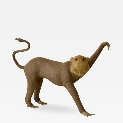 Burlap Monkey Statue
