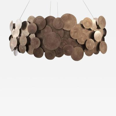 Burned Disc Chandelier