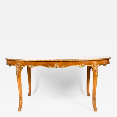 Burwood Dining Table with Gilt Design Details