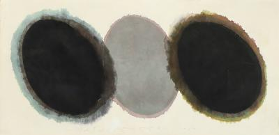 Byoung Yong Lee Byoung Yong Lee Two Black Eggs 1989