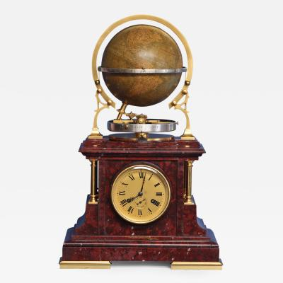 C 1895 French Globe Mantle Clock