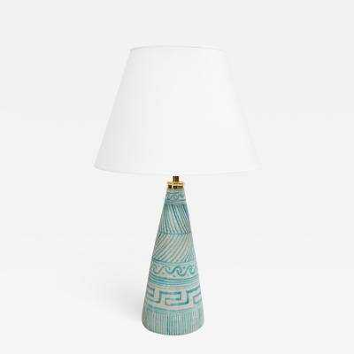 C A S Ceramiche Artistica Solimene Vietri Ceramic Cone Lamp by C A S Vietri
