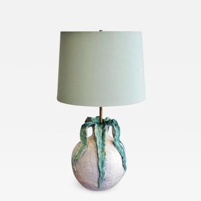 C A S Ceramiche Artistica Solimene Vietri ITALIAN STUDIO POTTERY POD TABLE LAMP