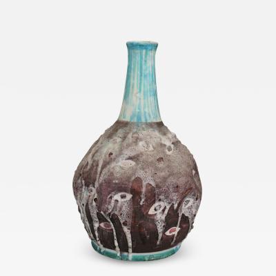 C A S Ceramiche Artistica Solimene Vietri Italian Ceramic Vase MidCentury Enamelled by C A S Vietri Italy 1950s