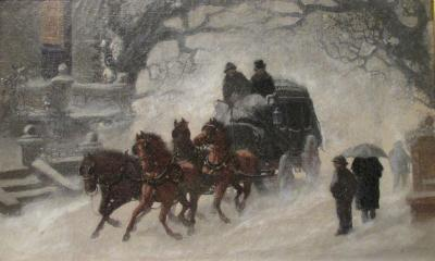 C F Witman A Snowy Arrival