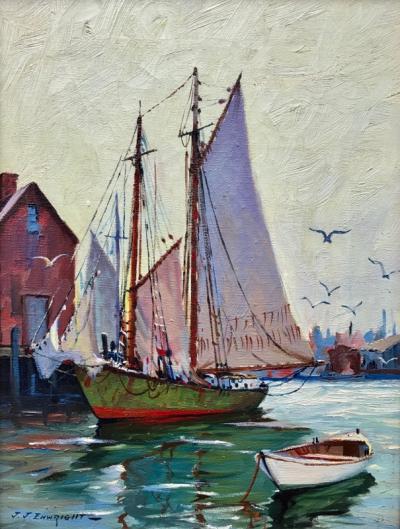 C Hjalmar Amundsen Gloucester Dockside