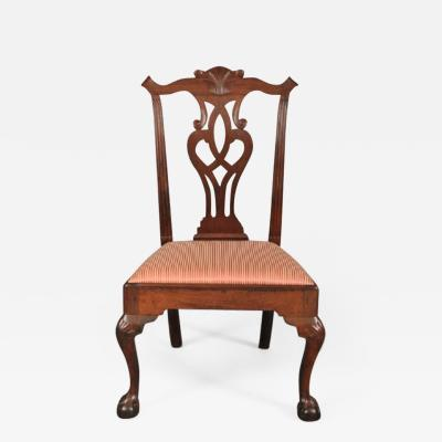 CARVED CHIPPENDALE SIDE CHAIR