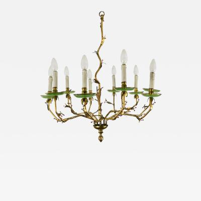 CHANDELIER WITH 10 BRANCHES SPAIN 1950