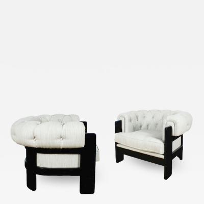 CHESTERFIELD STYLE PAIR OF ARMCHAIRS 1970