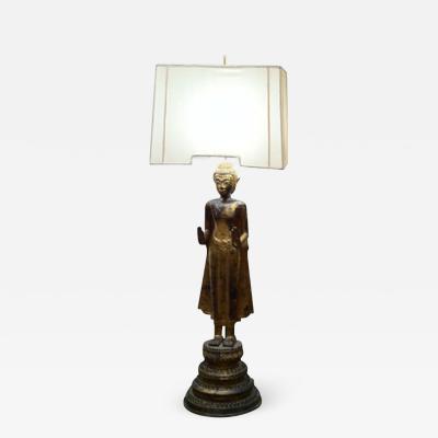 CHINESE BUDDHA FLOOR LAMP