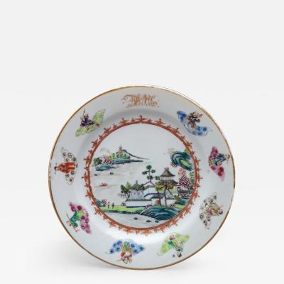 CHINESE EXPORT PORCELAIN PLATE FROM THE DEWITT CLINTON SERVICE