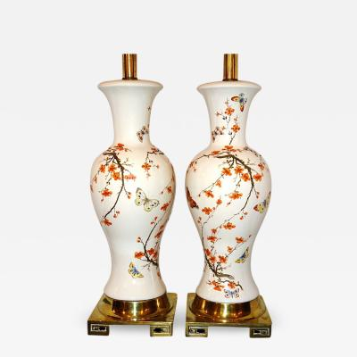 CHINOISERIE PORCELAIN TABLE LAMPS