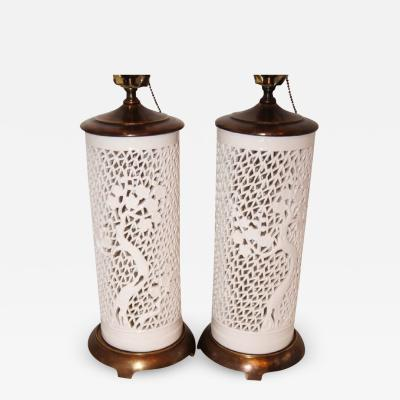 CHINOISERIE WHITE LAMPS