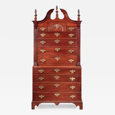 CHIPPENDALE CHEST ON CHEST