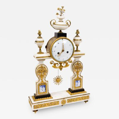 CL 11 Rare Louis XVI Period with Marble Mantel Clock