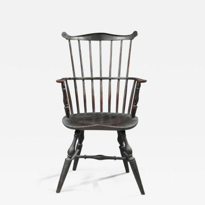 COMB BACK PAINTED WINDSOR ARMCHAIR