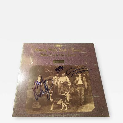 CROSBY STILLS NASH AND YOUNG ALBUM DEJA VU IT IS AUTOGRAPHED BY ALL FOUR