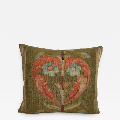 Ca 1880 Antique French Aubusson Pillow