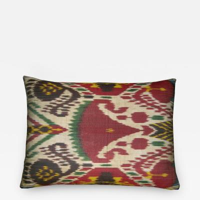 Ca 1900 Antique Ikat Pillow