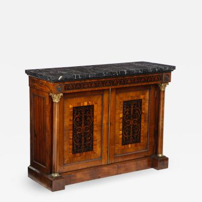 Cabinet in the style of George Bullock with marble top
