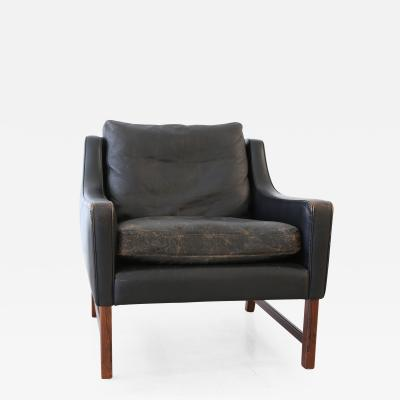 Cabinetmaker Leather Wingback Lounge Chair