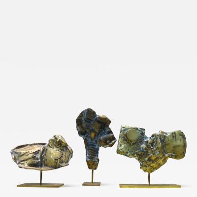 Cacipore Torres Three Brutalist Bronze Sculptures Brazilian Sculptor Cacipor Torres