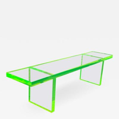 Cain Modern Custom Lime Green Lucite Bench by Cain Modern