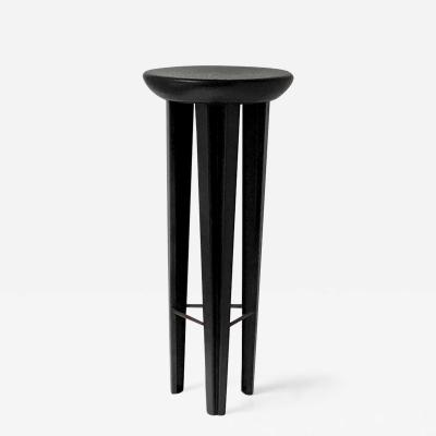 Cal Summers Ebonised Oak Bar Stool Signed by Cal Summers