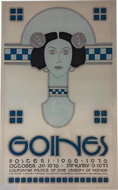 California Palace of the Legion of Honor Poster by David Goines