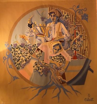 Calvet tapestry Woven in Raymond Picauds Circa 1940 1950
