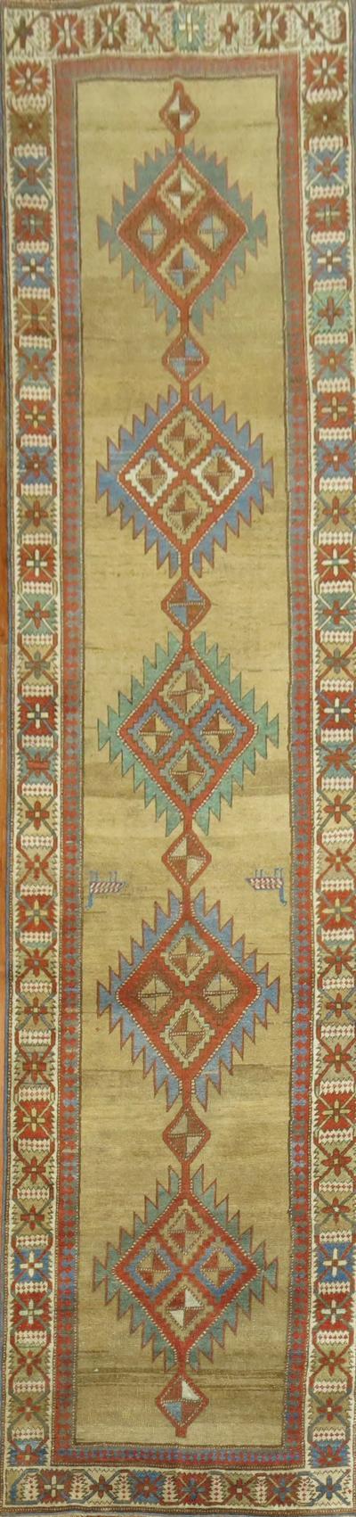 Camel Persian Bakshaish Runner rug no j1171