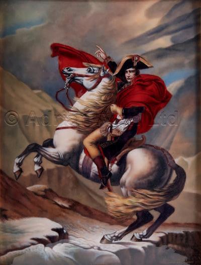 Camille Faur An Enamel Plaque Depicting Napoleon