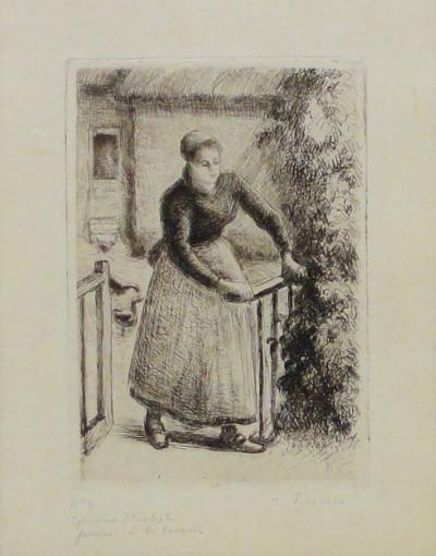 Camille Pissarro Woman at the Gate