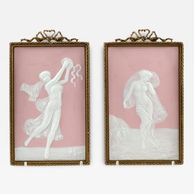 Camille Tharaud Camille Tharaud Limoges Pate Sur Pate Pair of Plaques
