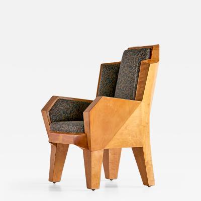 Camillo Cerri Camillo Cerri Important Cubist Armchair Designed for Haus Reinbach 1928