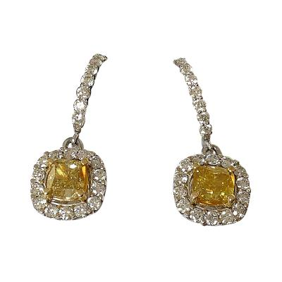 Canary Diamond Drop Earrings