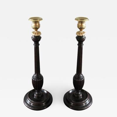 Candlesticks English 18th Century Mahogany England