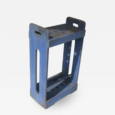 Cane and Umbrella Stand in Blue Paint
