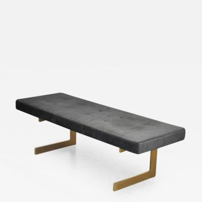 Cantilever Brushed Bronze Base Bench