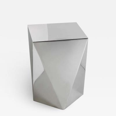 Carat S Pedestal in Hand Polished Stainless Steel