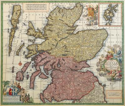 Carel Allard An 18th century map of Scotland